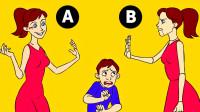 脑力时间:这两个妈妈当中,哪一个是假的?