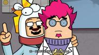搞笑吃鸡动画:沙博士发明一种吃鸡神药,据说喝了它能增加命中率