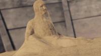 沙子竟组成一个人形,这太不可思议了
