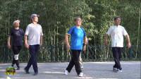 紫竹院广场舞《科尔沁民歌》,年逾古稀的五位老师太厉害了!