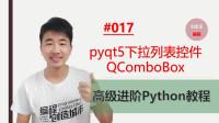 Python高级进阶教程017期 pyqt5下拉列表控件QComboBox#刘金玉编程