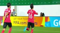 U17世界杯韩国队又造神仙球,任意球吊射复刻小罗02世界杯经典!