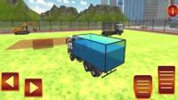 卡通工程车挖土运输建造池塘小游戏益智玩具