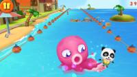 宝宝巴士奇妙屋 海边冲浪 躲避章鱼追击 亲子益智