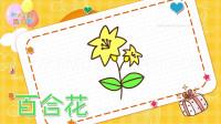 植物花卉简笔画大全,画百合花简笔画,积木时光简笔画