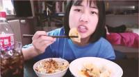 《农村美食》小姐姐开吃播吃酱汁馄饨,大呼是真的好吃,真馋!