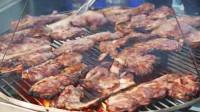 台湾街边小吃:龙眼木烤肉, 这么便宜