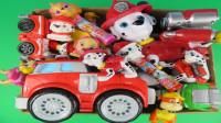 汪汪队狗狗玩具和汽车玩具展示