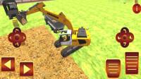 卡通工程车挖土运输建造池塘小游戏