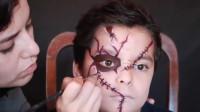 亲子美妆:妈妈帮儿子化妆打扮成刀疤男,你认识吗?