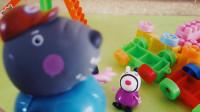 国外优秀迪士尼玩具 小猪佩奇的彩色小火车, 真帅啊过家家玩具