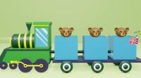 快乐玩具小熊坐小火车来到时游乐园,滑滑梯,蹦蹦床。
