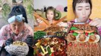 美食吃播:大胃王小姐姐吃芒果捞配油条,大口秒吞看着真过瘾