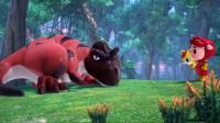 猪猪侠进入恐龙世界遇到蟑螂王怎么办?