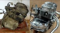 翻新本田125发动机,不是专业的还真干不了,拆开能装上算本事
