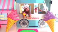 萌娃小可爱的冰淇淋店开业啦!小家伙的生意可真红火呢!—萌娃:冰淇淋,卖冰淇淋啦!