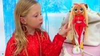 小萝莉想当一个漂亮的娃娃!