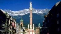 夜逛因斯布鲁克 看黄金屋顶和安娜柱 漫游欧洲之奥地利