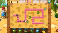 植物大战僵尸 按路线图种植植物 亲子益智游戏