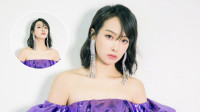八卦:宋茜紫色紧身裙秀好身材 想撩刘海及时收手