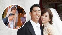 现场:林志玲穿婚纱曲身敬茶 姿态优美场面动人