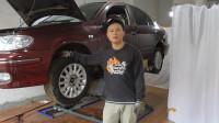 阳光尼桑发动机修了一个月,安装刹车分泵和轮胎,准备到路上试车