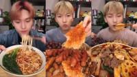 美食吃播:大胃王小哥哥吃螺蛳粉和麻辣火锅,大口秒吞看着真过瘾