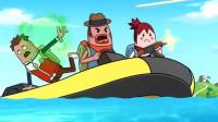 搞笑吃鸡动画:霸哥带领全香肠岛的肠共同对抗海盗,这场面太壮观了