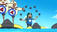 搞笑吃鸡动画:霸哥众人纷纷成盒,雷神暴走同海盗同归于尽,真男人