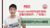 Python高级进阶教程021期 pyqt5label控件进阶使用,设置兄弟控件,广告植入