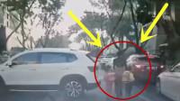 母女三人上学的路上,眨眼间阴阳两隔,监控拍下心碎画面