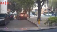 确定不是新手或者女司机,本田讴歌倒车结果还是撞上了,监控拍下全过程