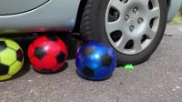 用汽车压碎脆软的东西!实验:蜈蚣玩具vs汽车