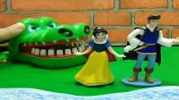 少儿益智游戏玩具:大鳄鱼要一颗红心才肯带着王子和公主过河