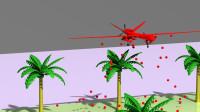 卡通无人机洒下各种颜色小球学习颜色早教MG动画