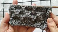 看了就会爱上的一款菊花花型,可以编织任何款式的毛衣,小菊花花型编织教程