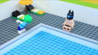 定格动画:乐高游泳池 - 超级英雄蝙蝠侠VS小丑