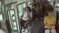 女子突然跳下行驶中公交车,要不是监控,我们都不会相信