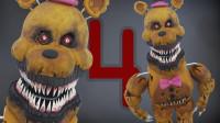 手办:用铁丝和软陶打造玩具熊的五夜后宫梦魇弗雷迪