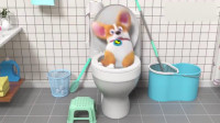 短腿小柯基:我该怎么去厕所啊