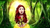 迪士尼贝儿公主仿妆,优雅的小公主,你是迷路了吗