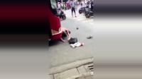 男子在街头碰瓷!结果遇上女司机!监控拍摄了死前秒前的一幕!