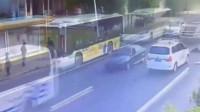 女子过马路被撞身亡,要不是监控,谁会相信这一幕