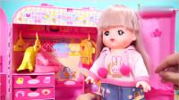 咪露妹妹的梦幻大衣橱儿童玩具。
