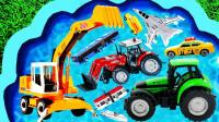 孩子们的早教启蒙玩具认知:公交车、救护车、消防车、挖掘机、警车、战斗机、校车!
