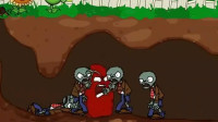 植物大战僵尸游戏动画:坚果也有樱桃炸弹的技能?