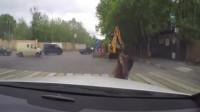 大货车司机下坡发现不对劲,监控拍下惊险一幕