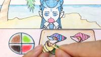手绘定格动画:新鲜的海螺,让敖丙一个人吃,不告诉哪吒