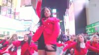 一群小姐姐纽约街头跳舞,后面的外国人都看呆了!