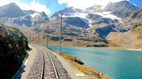 世界的车窗 / 瑞士贝尔尼纳山间铁路线全景~圣莫里茨至意大利蒂拉诺